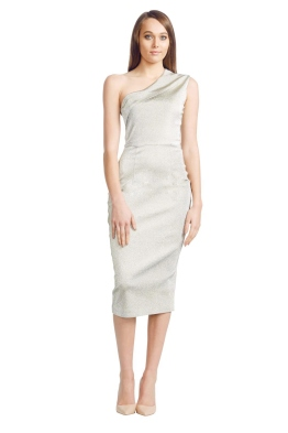Alex Perry - Grace Dress - Front - Gold