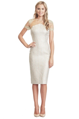 Alex Perry - Isla Dress - Gold - Front