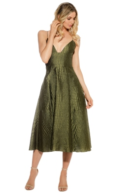 Alex Perry - La Verne Dress - Khaki - Front