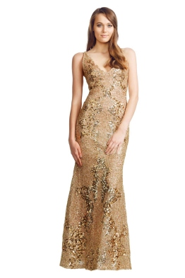 Alex Perry - Midas Gown - Front - Gold