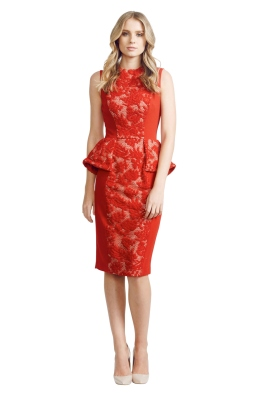 Alex Perry - Natalia Dress - Front - Red - christmas work function