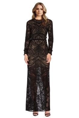 Alexis - Kassidy Fringe Lace Dress - Front