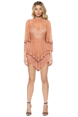 Alice McCall - Are You Ready Girl Mini Dress - Amber - Front