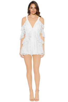 Alice McCall - Be The One Playsuit - White - Front