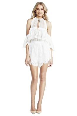 Better Be Good To Me Playsuit - White - Front