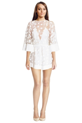 Alice McCall - Gypsy Eyes Playsuit White - Front