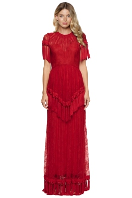 Alice McCall -  Lady In Red Gown - Front