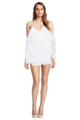 Alice McCall - Lucy In The Sky Playsuit - White - Front