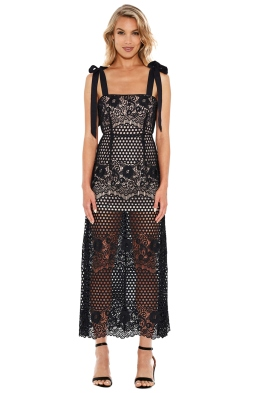 Alice McCall - Secret Lover Dress in Black - Front