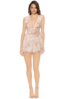 Alice McCall - Sherbert Bomb Playsuit - Peach - Front