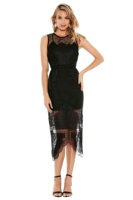 Alice McCall - Talk the Talk Dress Black - Front - christmas work function