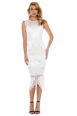 Alice McCall - Talk the Talk Midi Dress - White - Front