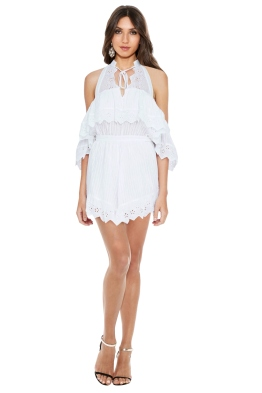 Alice McCall - White Room Playsuit - Front