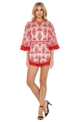 Alice McCall - Young Hearts Run Free Playsuit - Red - Front