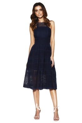 Grace & Hart - Allure Floaty Dress - Navy - Front - christmas work function
