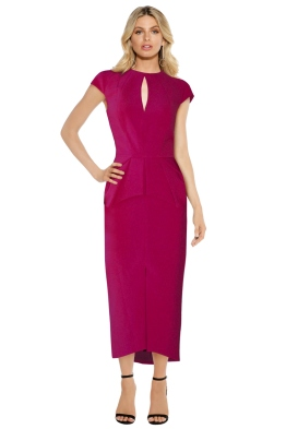 Aurelio Costarella - Cubiste Dress - Berry - Front