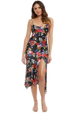 Bec and Bridge - Cha Cha Midi Dress - Black Floral - Front