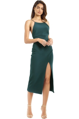 Bec and Bridge - Jessie Slip Midi Dress - Forest Green - Front