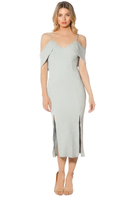 Blessed are the Meek - Ella Dress - Dusty Blue - Front