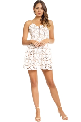 Bronx and Banco - White Florence Mini Dress - White - Front