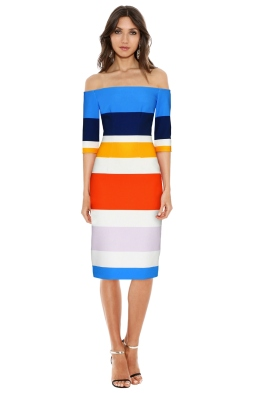 By Johnny - Bermuda Stripe Cut Off Dress - Multicolour - Front