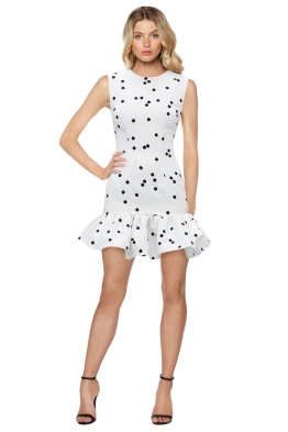 By Johnny - Confetti Gather Mini Dress - White - Front