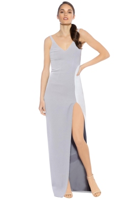 By Johnny - Marble Tones Slice Dress - Front - Grey