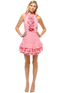 C_MEO - Big Picture Dress - Pink - Front