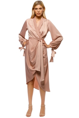 C/MEO Collective - Influential LS Dress - Sand - Front