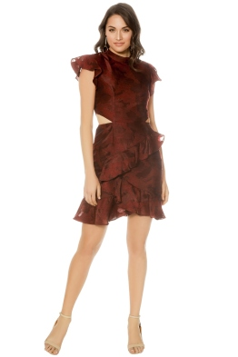 Cameo - Ember SS Dress - Ruby - Front