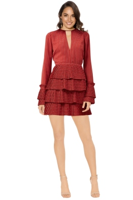 C/MEO Collective - Fundament Dress - Red Spot - Front