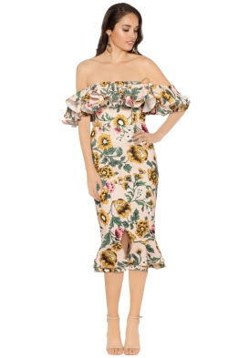 Cameo - Immerse Midi Dress - Blush Floral - Front