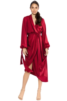 Cameo - Influential LS Dress - Crimson - Front