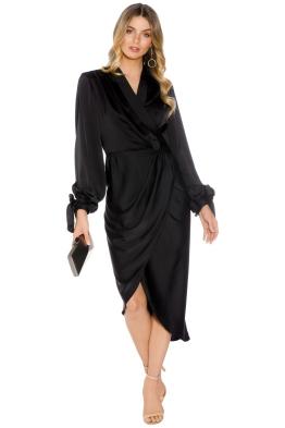 Cameo - Influential LS Dress - Black - Front
