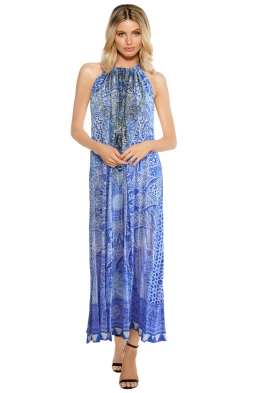 Camilla - Bosphorous Drawstring Dress - Front