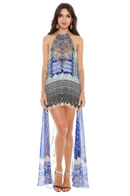 Camilla - Courtyard of Maidens Short Sheer Overlay Dress - Front