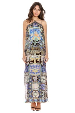 Camilla - Weave of Humanity Halterneck Layered Dress - Front