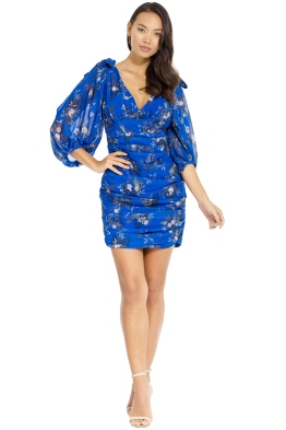 Camilla and Marc - Stanwyck Short Dress - Mid Blue - Front