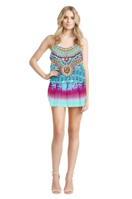 Camilla - Tides of Aurora Playsuit - Front