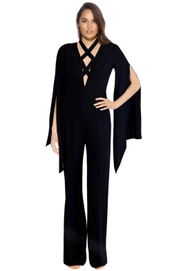 Carla Zampatti - Angels' Wings Jumpsuit - Black - Front