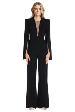 Carla Zampatti - Black Crepe Titania Jumpsuit - Front