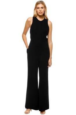 Carla Zampatti - Gabriella V Back Jumpsuit - Black - Front