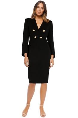 Carla Zampatti - Onyx Military Precision Dress - Front