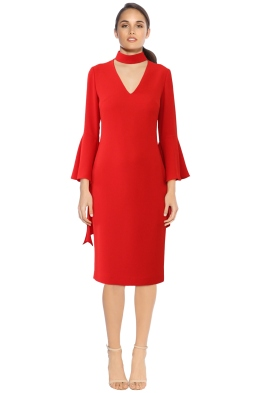 Carla Zampatti - Senorina Dress - Red - Front