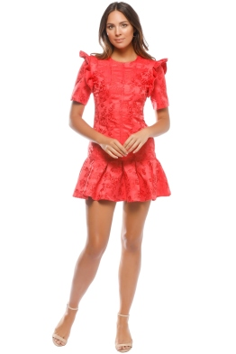 CMEO - Levity Mini Dress - Cherry - Front