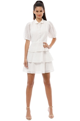 CMEO Collective - Think About Me Mini Dress - Ivory - Front 504ad40ca