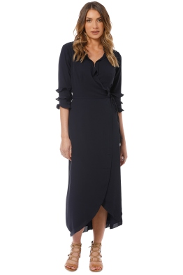 ee8bf31275 Cooper St - Bridgette Maxi Wrap Dress - Navy - Front