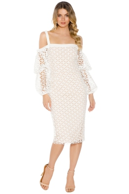 Cooper St - Karlie Lace Bloom Dress - White - Front