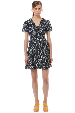 Cooper St - Waterlily Wrap Mini Dress - Print - Front