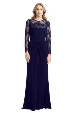 David Meister - Jersey Twist Dress - Front - Blue